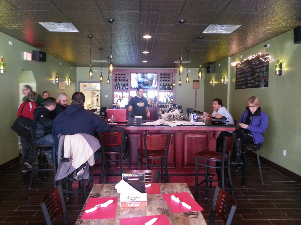 Mineo's new dining room and bar.