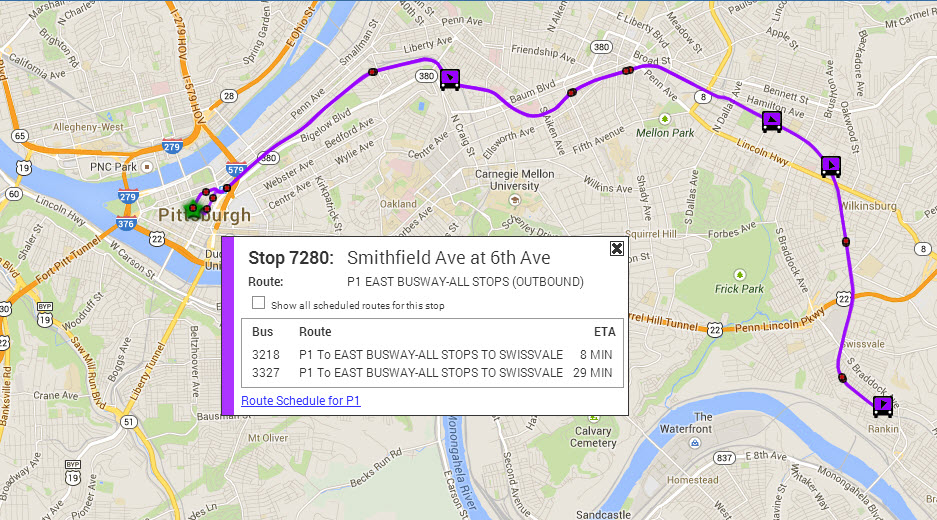 Port Authority Rolls Out Real Time Bus Tracking