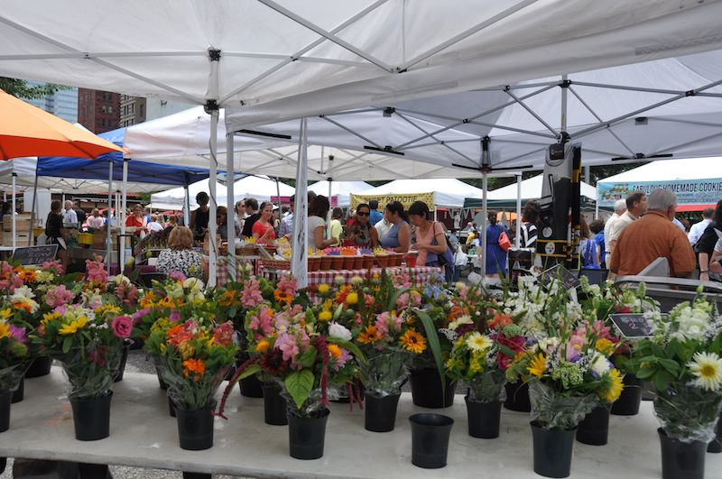 The Farmers Market in Market Square, downtown Pittsburgh on Thursdays. Photo by Tracy Certo