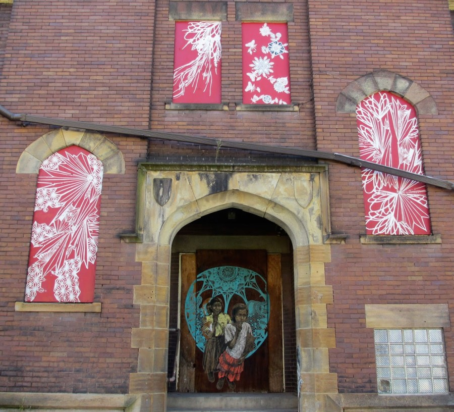 Art by Swoon. Photo by PGH Murals.