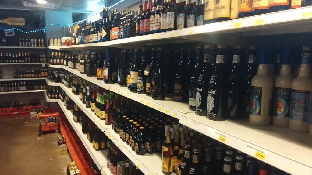 Build your own six-pack at D's beer cave. Dan Certo photo.