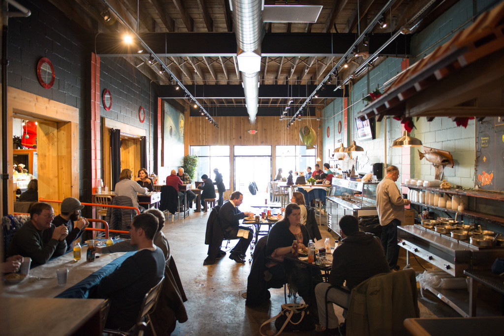 Expanded dining area at Penn Avenue Fish Company. Photo by Rob Larson.