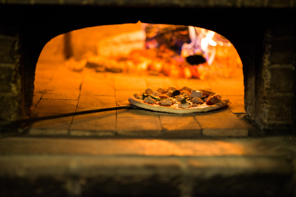 The wood-fired oven at Cafe Enrico. Photo by Rob Larson.