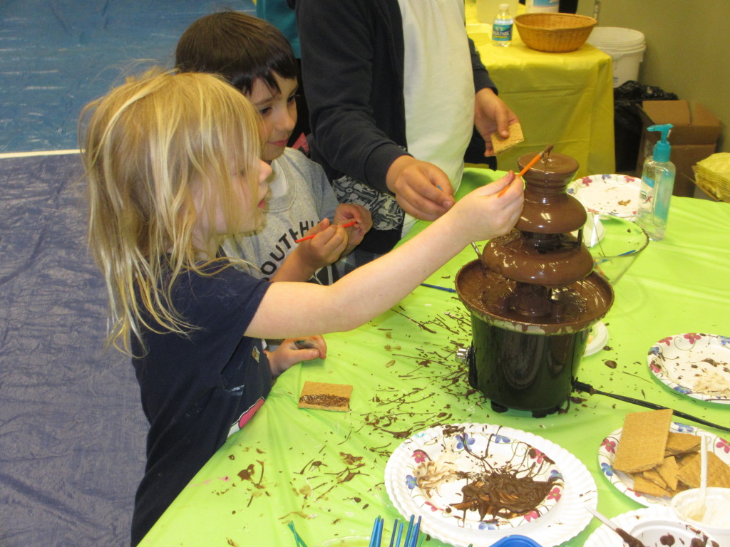 Who can resist painting with chocolate?
