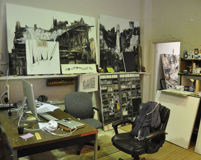 Seth Clark's studio at Radiant Hall. TC photo.