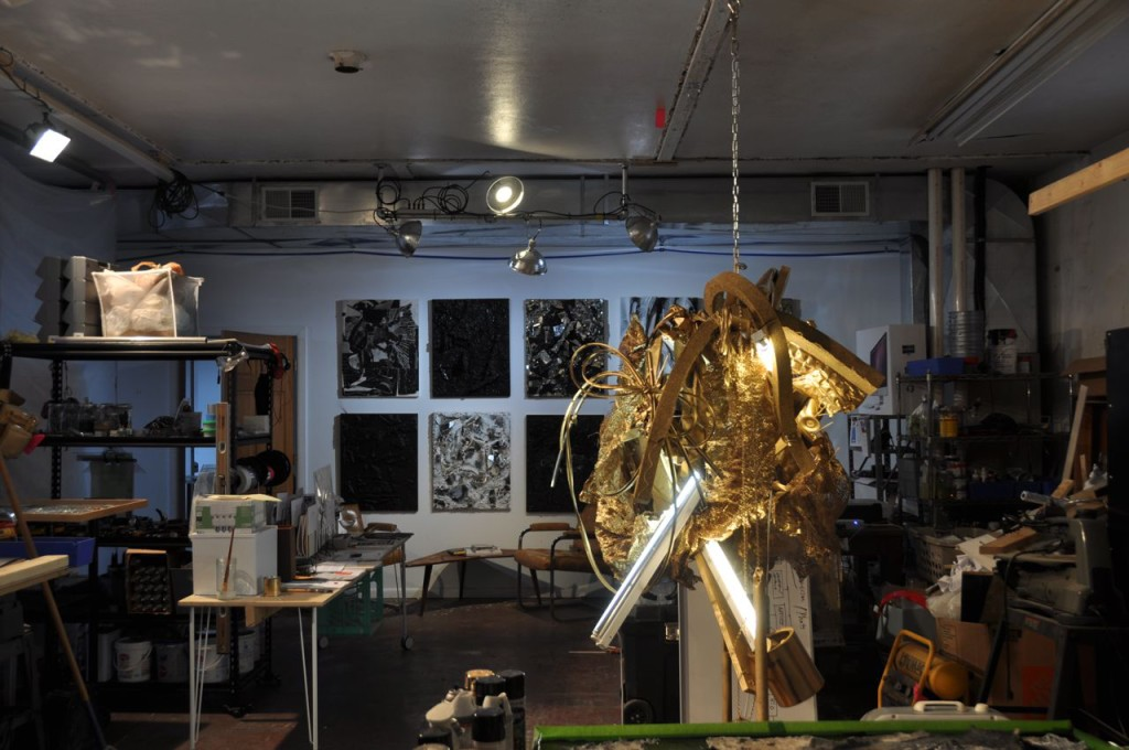 Ryan Lammie's studio at Radiant Hall in Lawrenceville. TC photo.