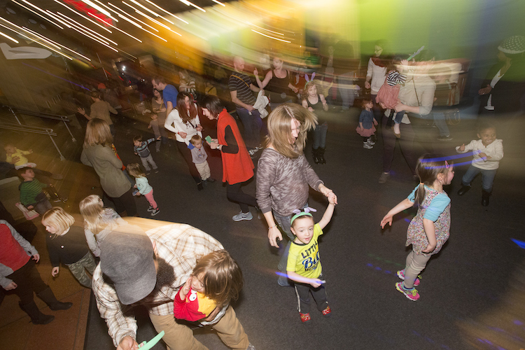 Kid City Rockers dance party. Photo by Larry Rippel