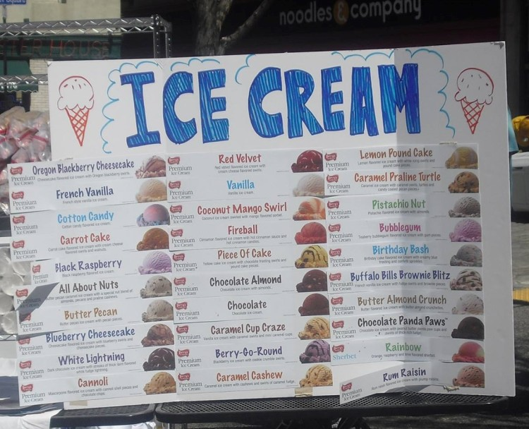 Enjoy 30+ flavors of ice cream at the DreamOn Music & Ice Cream Festival in Market Square. Photo courtesy DreamOn Festival.