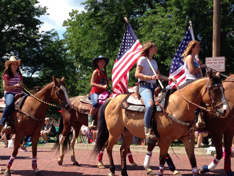 Celebrate a small-town Independence Day with a parade. Photo courtesy Midland 4th of July.