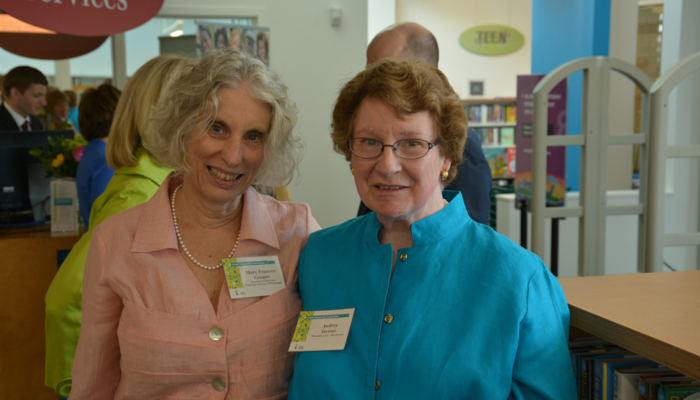 CLP President and Director Mary Frances Cooper and Beechview Manager Audrey Iacone Photo by Ian Mikrut