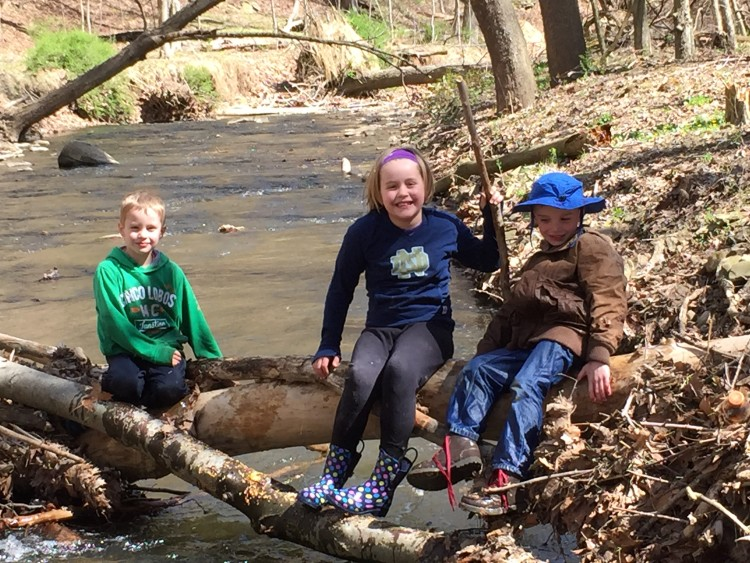 Creek hiking at Walker Park near Sewickley. Photo by Kim Harbaugh.