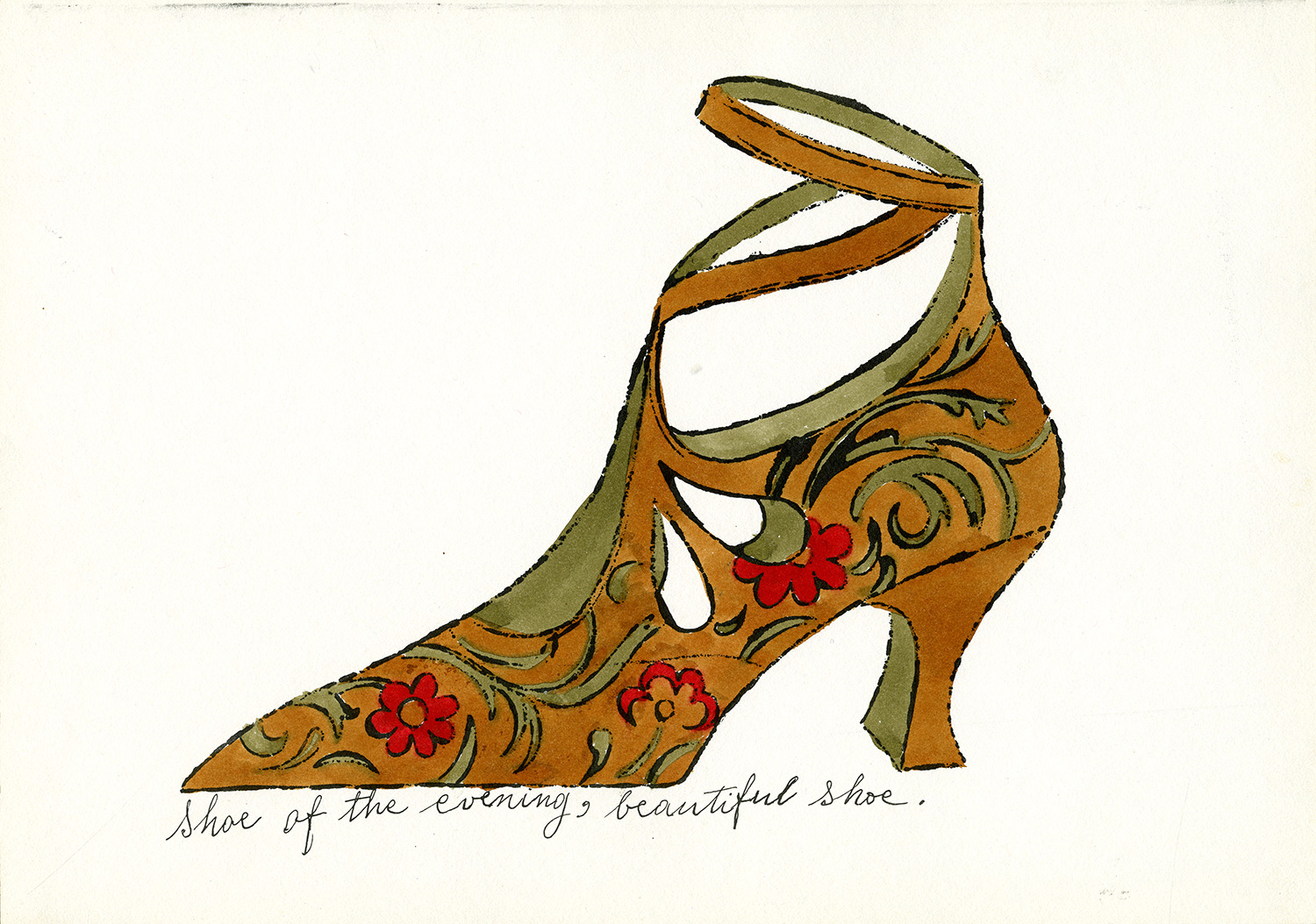 Andy Warhol, Shoe of the Evening, Beautiful Shoe, ca. 1955, ©AWF.