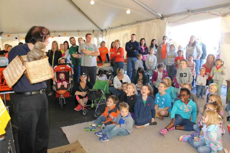 Storytelling in the Children's Tent. Photo courtesy Beaver County BookFest.