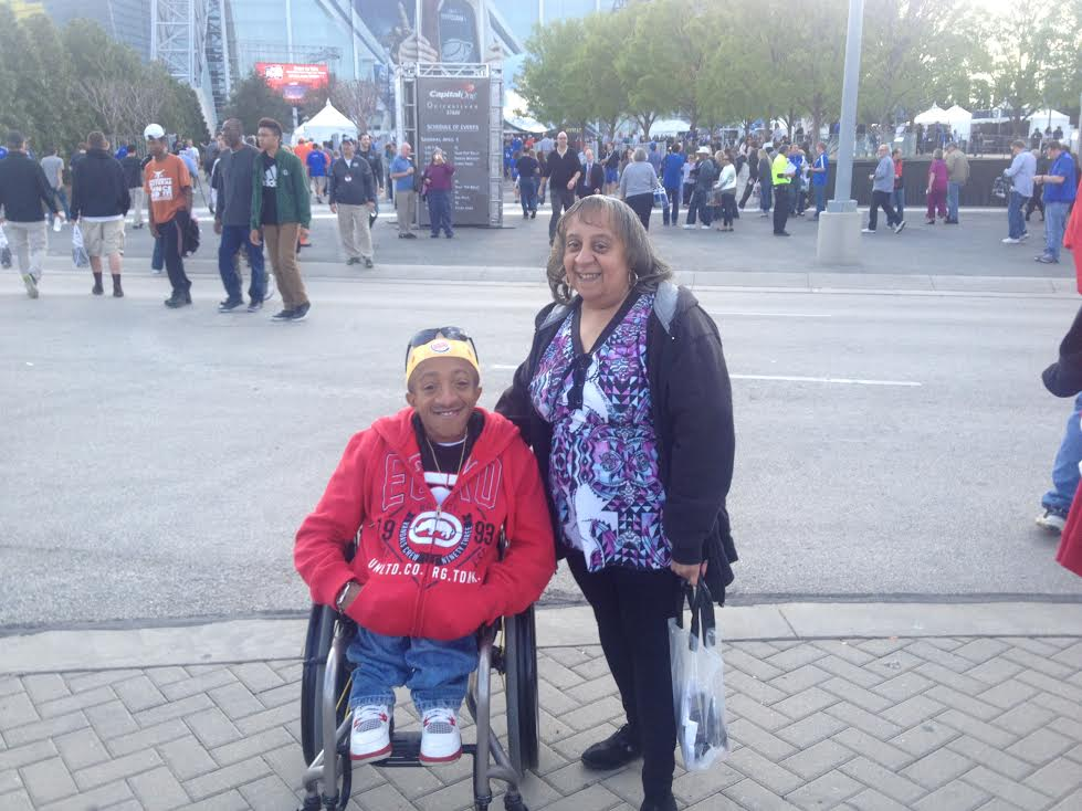 Chaz & his mom attending the 2014 NCAA Final Four.