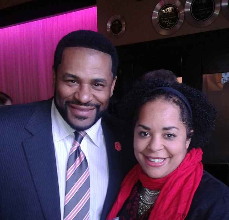 Dina Clark with Jerome Bettis