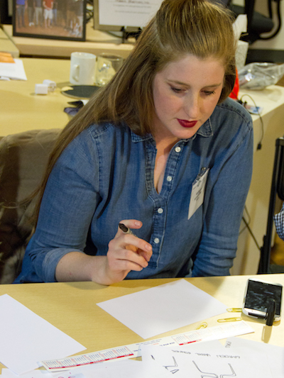 Kathryn Levy working on ideas at the Design Jam.