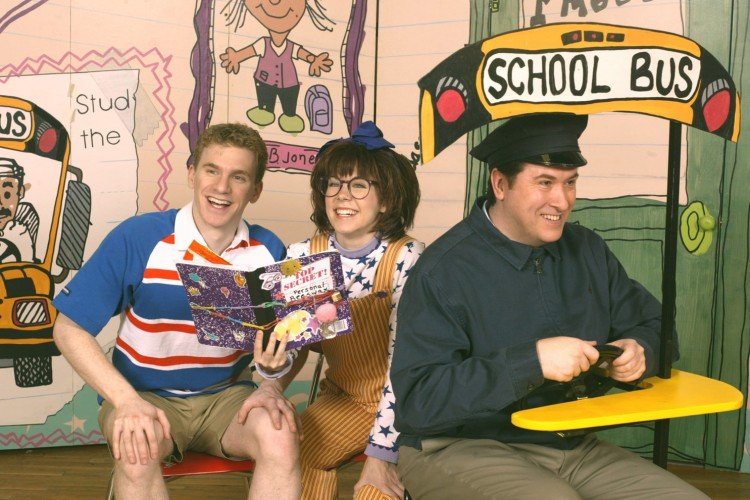 Cast from Junie B.'s Essential Survival Guide to School. Photo courtesy Theatreworks USA.