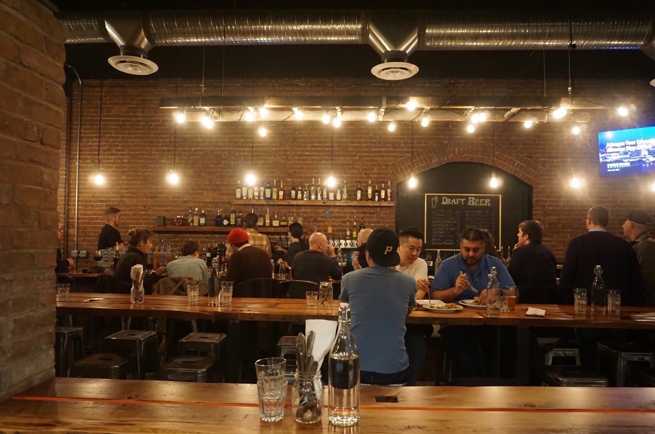 The bar at Smallman Galley. Photo by TH Carlisle.