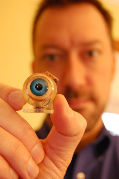 Dr. Shawn Kelly with the retinal prosthesis