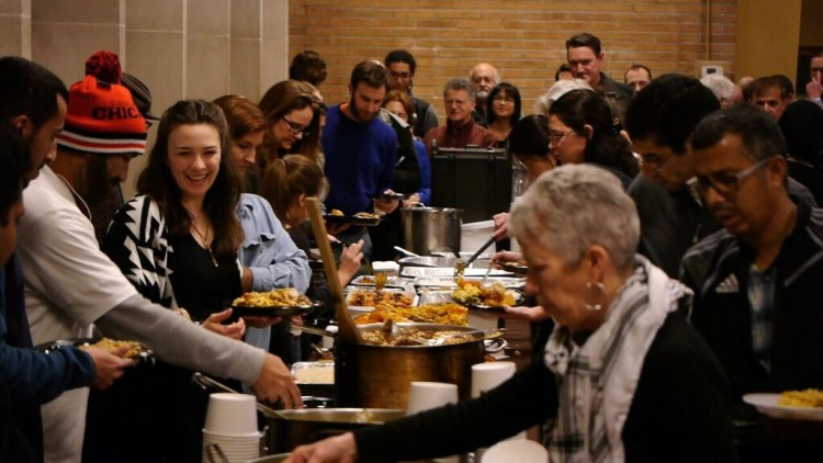 Muslim Solidarity Potluck with The Islamic Center of Pittsburgh and Conflict Kitchen. Photo by Ben Hernstrom.