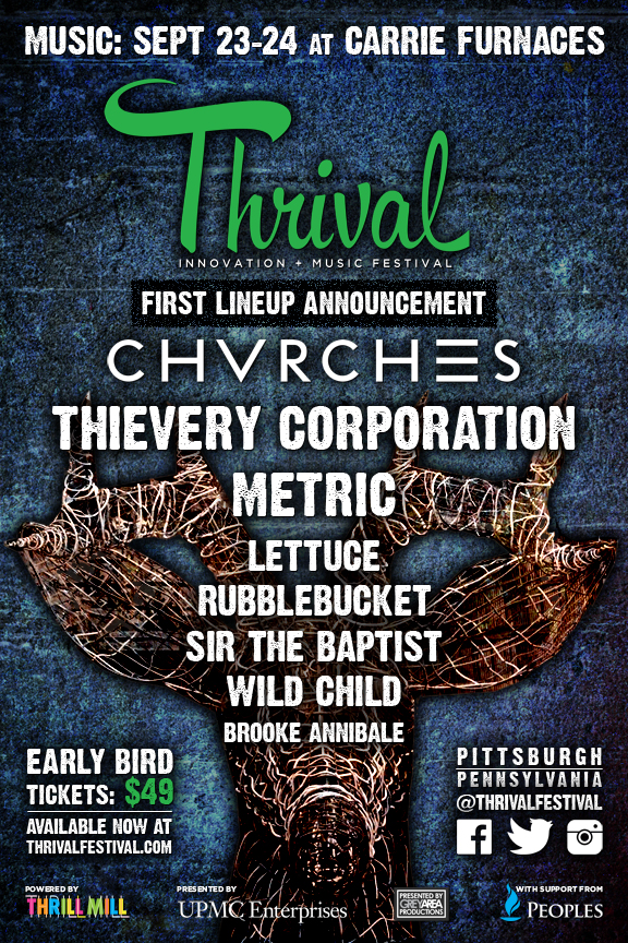 Thrival Music 2016 First Announce Poster