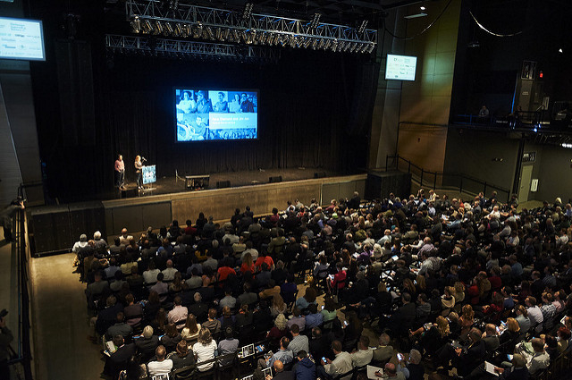 Packed house at Stage AE for Demo Day, the largest celebration of tech startups in Pittsburgh.