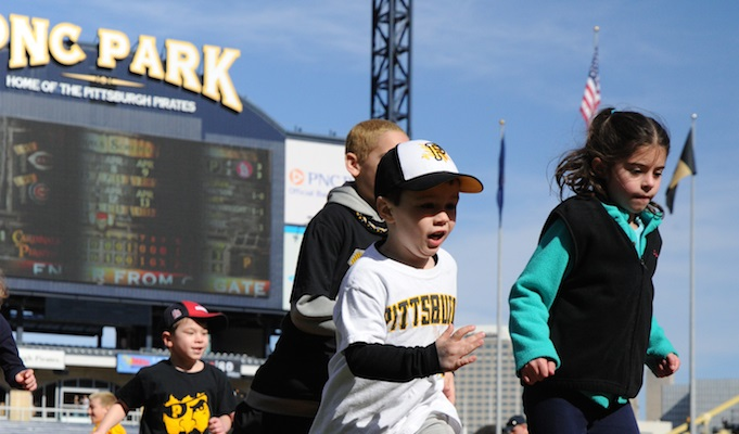 Kids Day at PNC Park.