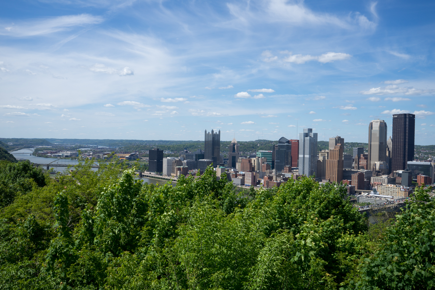 Pittsburgh seen from Grandview Park. Brian Conway photo.