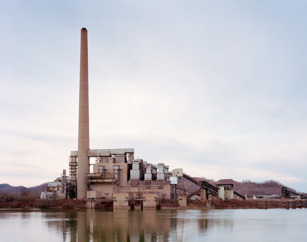 "View of the FirstEnergy R.E. Burger power plant in Shadyside, Ohio on 01/31/2016. The plant's coal-fired boilers were taken off line in 2011 and the facility was completely closed in 2015. The site is being considered for a new ethane cracker plant. The processing plant would take ethane from the Utica and Marcellus Shale formations and convert it into ethylene, which is used in the petrochemical industry. Wells are being drilled across the states of Ohio, Pennsylvania and West Virginia to extract gas from the Marcellus and Utica Shale, rock formations that extends throughout much of the Appalachian Basin. Gas companies are using a technique known as hydraulic fracturing or ""fracking"", which involves pumping fluid into wells at high pressure in order to fracture the rock formation and release the gas. Noah Addis/Marcellus Shale Documentary Project"