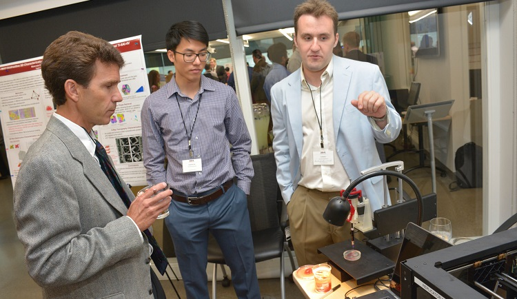 3-D bioprinting demonstration at NextManufacturing Center Consortium launch. Image courtesy of CMU.