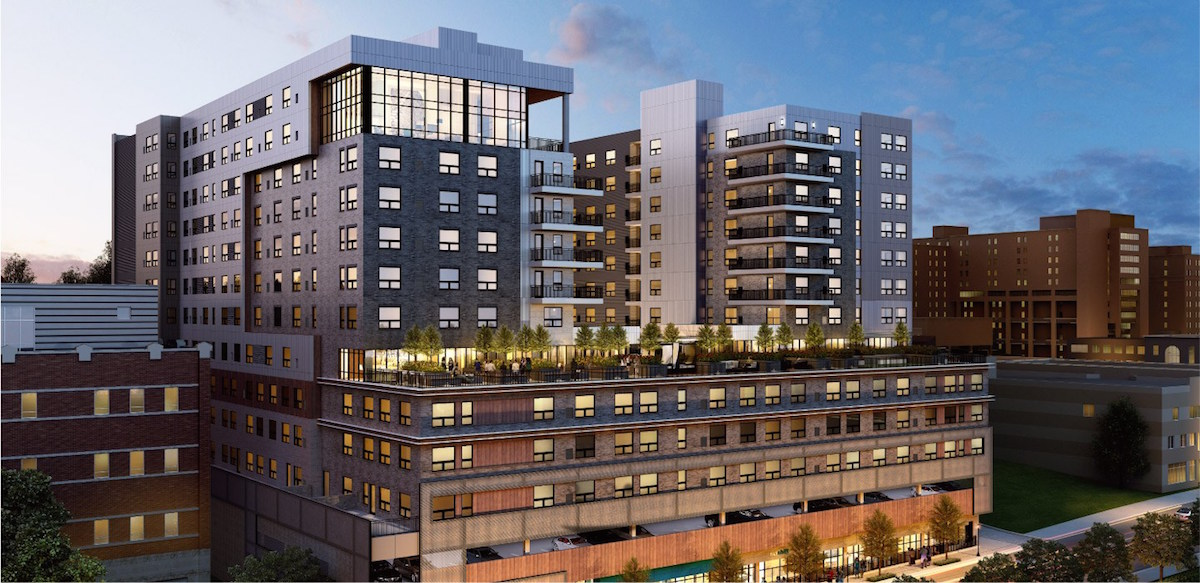 skyvue apartments opening in oakland with rooftop deck and city views