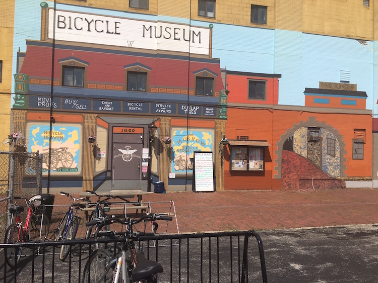 The exterior of Bicycle Heaven in the Casey Industrial Park in the Northside.