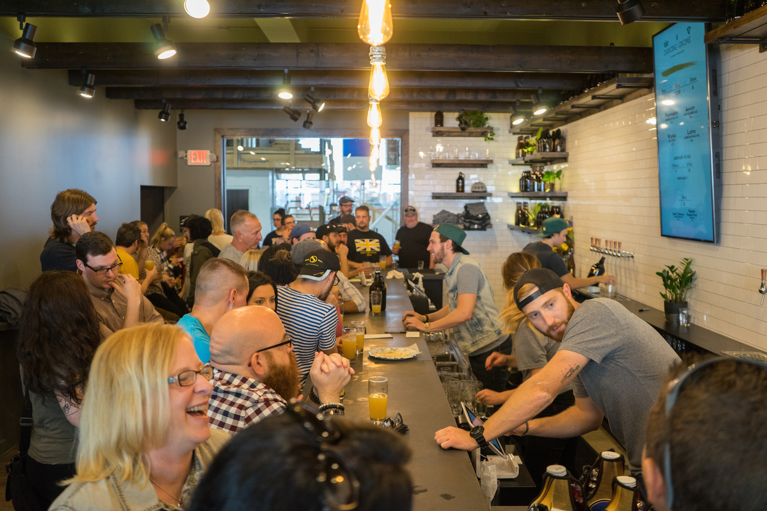 Dancing Gnome Brewing Company on opening day. Brian Conway Photo.