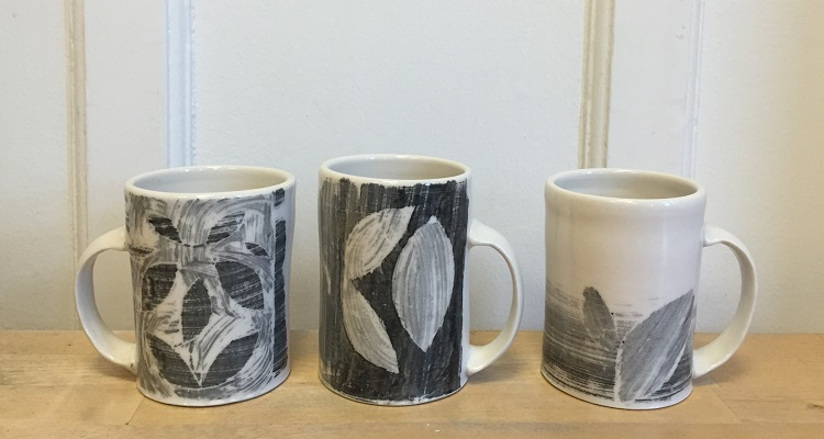 Mugs by Carina Kooiman. Image courtesy of Carina Kooiman.