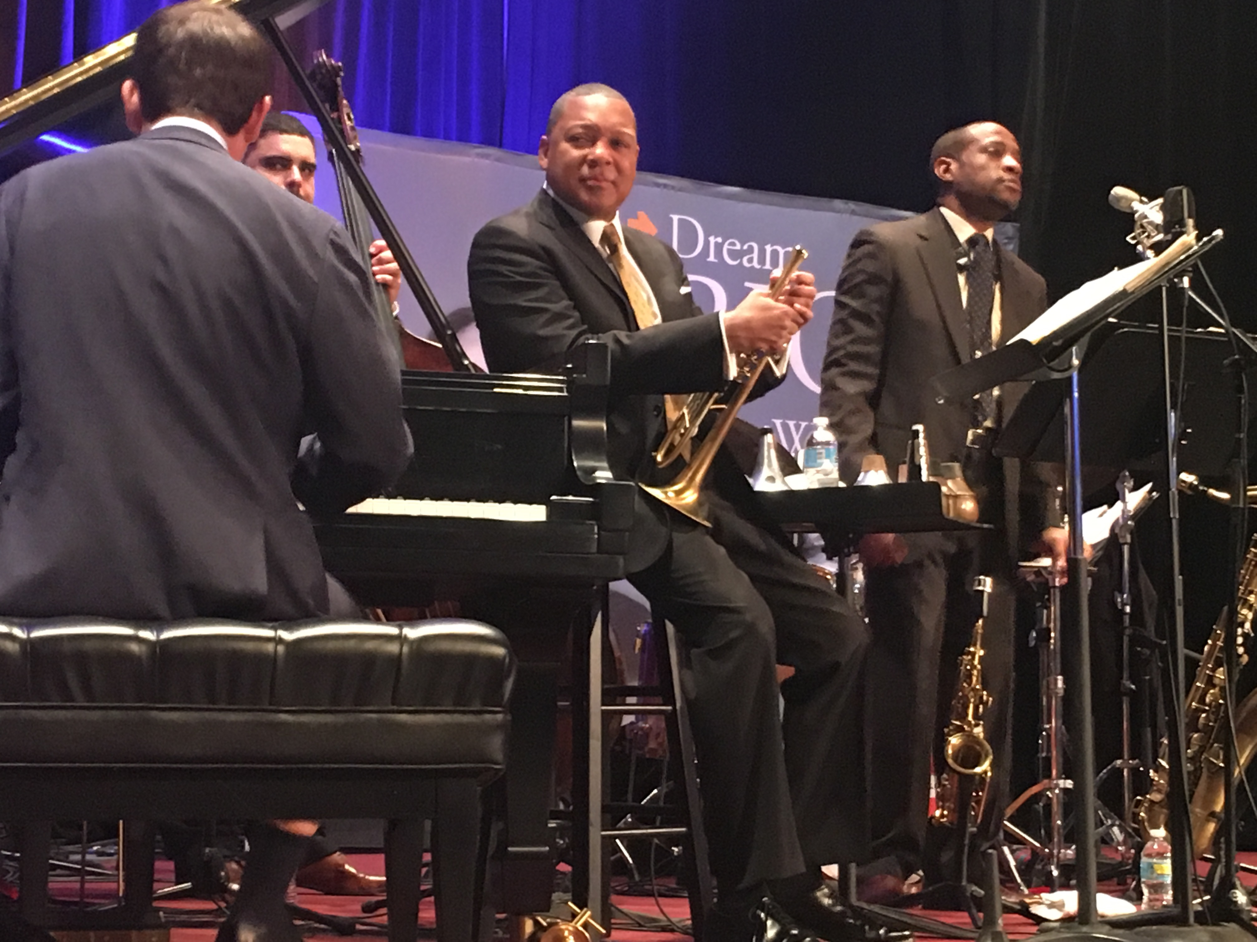 Wynton Marsalis and His Small Group rocking it at The Evening of a Million Possibilities. Photo by Tracy Certo.