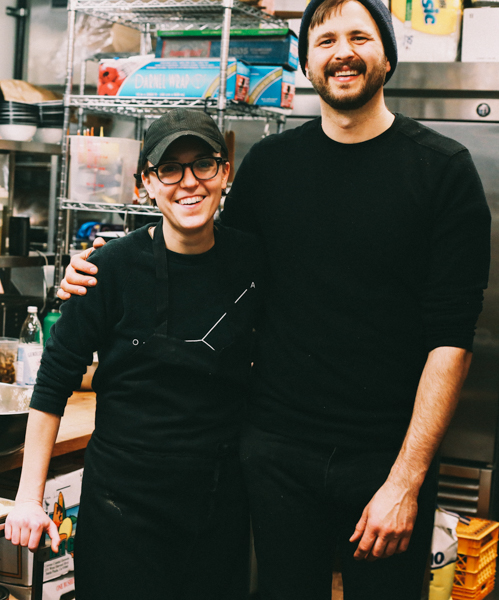 Kate Lasky & Tomasz Skowronski, chef-owners at Apteka.