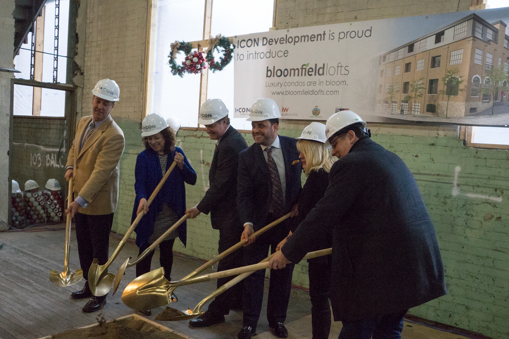 Groundbreaking at Bloomfield Lofts. Brian Conway photo.