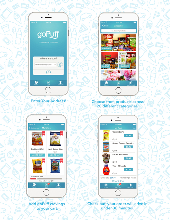 goPuff delivery app