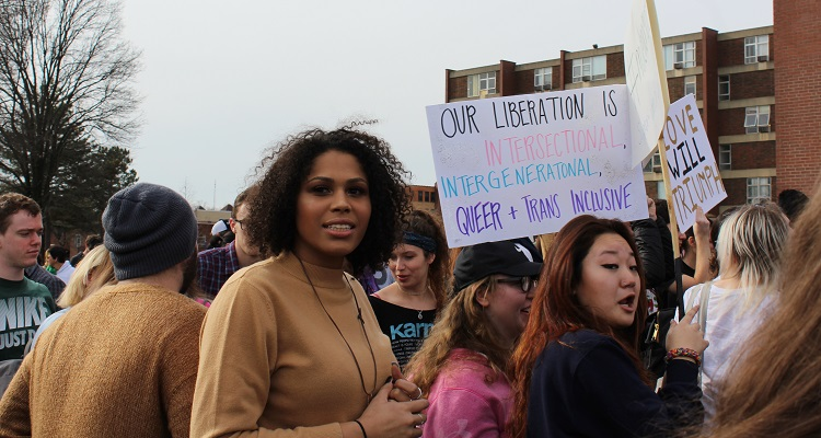 Our Feminism Must Be Intersectional rally. Photo by Amanda Waltz.