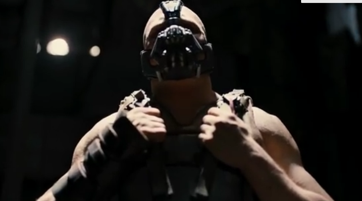 "Tom Hardy in ""The Dark Knight Rises"" (2012)."