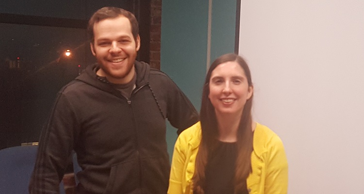 Tomer Borenstein (left) and Alison Alvarez (right) of BlastPoint. Image courtesy of BlastPoint.
