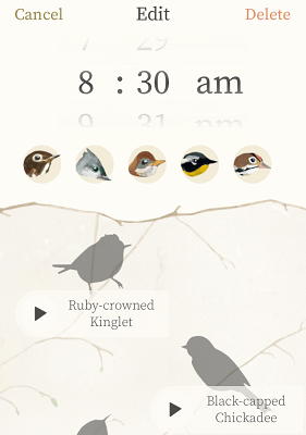 Screenshot of Dawn Chorus alarm.