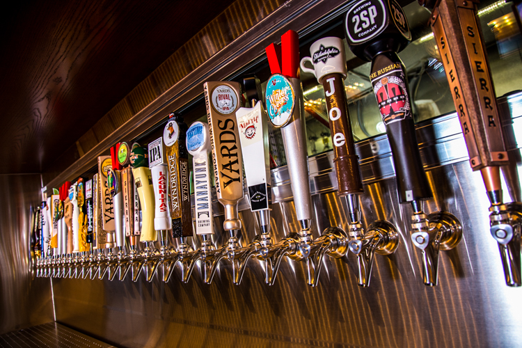 Beer taps at City Works Eatery & Pour House. Photo: Bottleneck Management