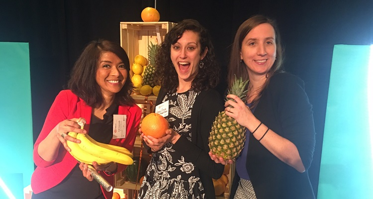 412 Food Rescue goes bananas at the UpPrize Social Innovation Challenge community showcase. Photo by TC.