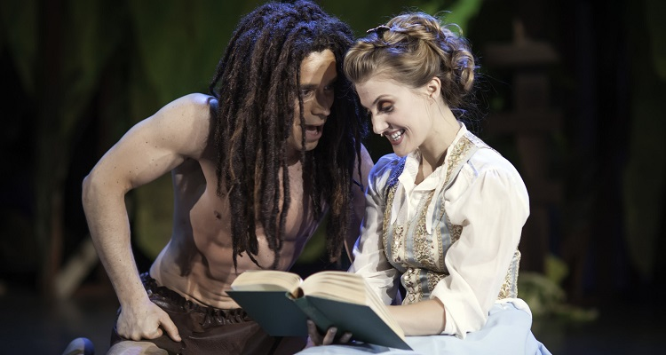 Dave (left) and Kate (right) Toole in Tarzan. Image courtesy of Pittsburgh Musical Theater.