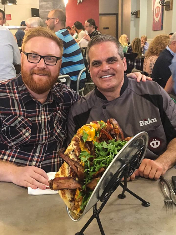 Ginormous Foods' Josh Denny (L) with Bakn's Randy Tozzie (R). Photo by Bakn.