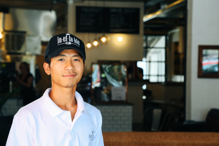 Phat Nguyen, owner of Ineffable Ca Phe in Lawrenceville. Photo by Tom O'Connor.