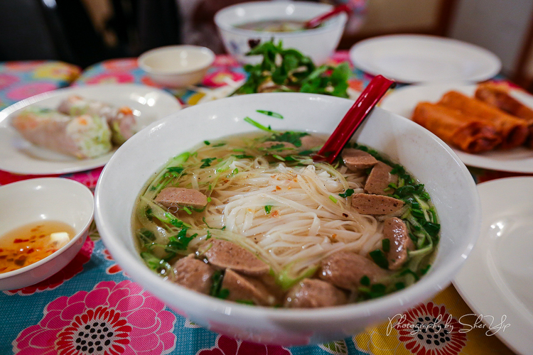 Pho with meatballs at Tram's Kitchen. Photo by Sher Yip @per_ogi.