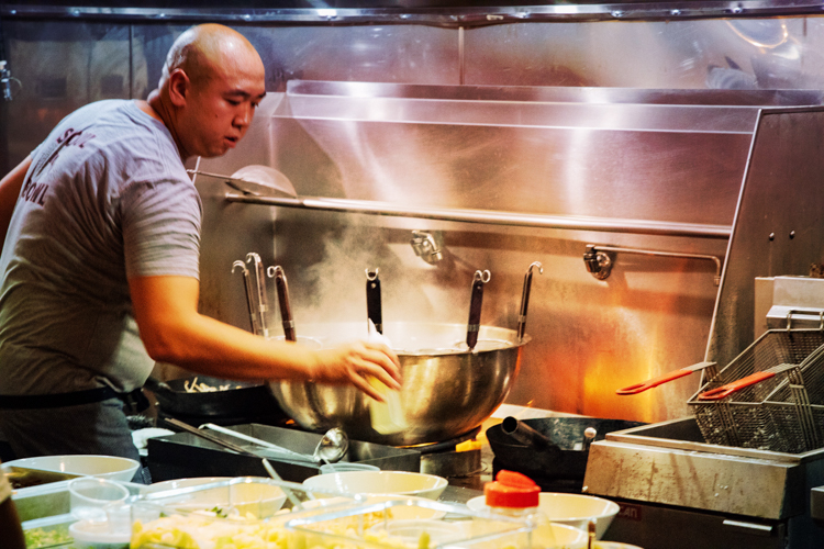 Chef Roger Li on opening night at Ki Ramen in Lawrenceville.
