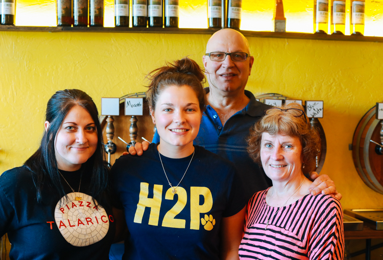 The Piazza Talarico family: Katie, Beth, Papa Joe and Deb. Photo by Tom O'Connor.